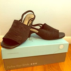 Lifestride slingback block heels